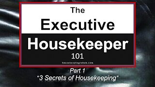 Housekeeping Training - 3 Mysterious Secrets of Hotel Housekeeping - Part 1