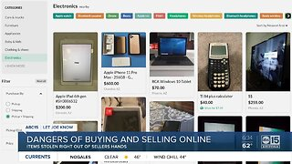 The dangers of selling something online