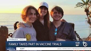 San Diego family participates in multiple COVID-19 vaccine trial