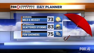 Showers and storms expected in SWFL Tuesday
