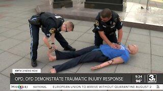 Omaha first responders stage mock traumatic injury response