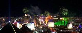 New Year's Eve fireworks show over the Las Vegas Strip