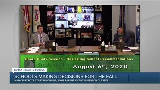 Parents divided on in-person versus online learning debate