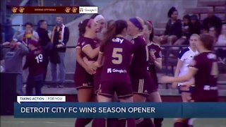 Detroit City FC women's team wins season opener