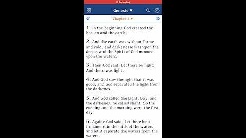 Genesis One - Geneva Bible GNV