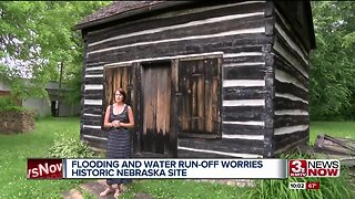 Underground Railroad site suffers from water run-off from flooded ravine
