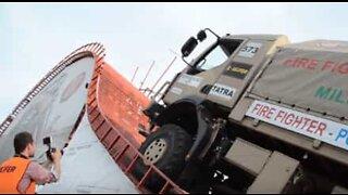 Lastbil slår imponerande rekord