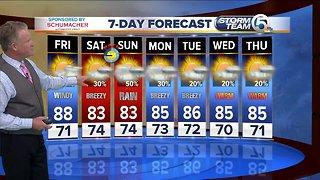 Thursday night forecast from Steve Weagle