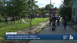 """""""Save Our Block"""" block party held in Poppleton"""