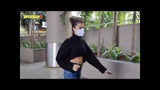 Tara Sutaria and Ahan Shetty Spotted at the Airport | SpotboyE