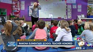 Ramona elementary school teacher honored