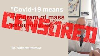 Dr. Roberto Petrella CENSORED Over Covid-19 Truth