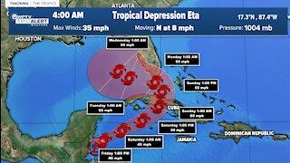 Eta expected to curve towards Florida as tropical storm