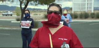 Las Vegas healthcare workers address PPE shortage