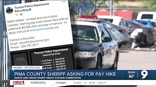 Pima County Sheriff asking for pay hike