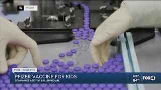 Pfizer vaccine up for approval in children in Europe