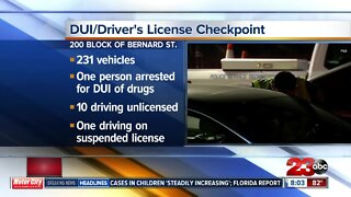 Bakersfield Police DUI checkpoint