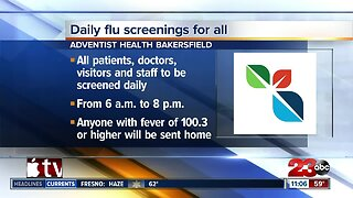 Adventist Health to start screenings for flu