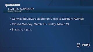 Charlotte County traffic advisory