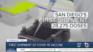 First shipment of COVID-19 vaccine won't cover San Diego's initial medical workers