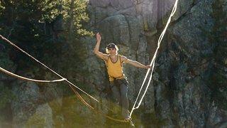 Watch: Adventure Junkie Performs Incredible Flips On Slackline