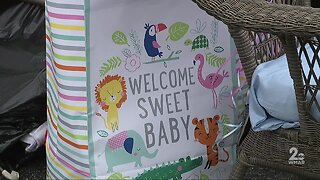 Local couple throws surprise drive-thru baby shower for their daughter