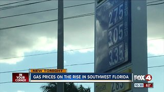 Gas prices reach highest this month