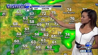Warmer, with scattered afternoon storms this weekend