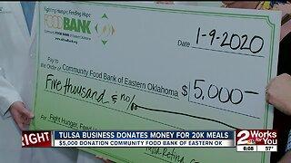 Tulsa business donates money for 20k meals