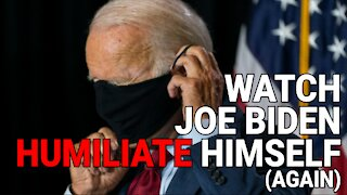 HUMILIATING: JOE BIDEN BREAKS CDC GUIDELINES BY WEARING MASK OUTSIDE, ALONE, VACCINATED