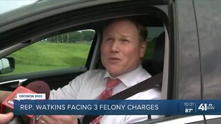 US Rep. Steve Watkins charged with 3 voting-related felonies