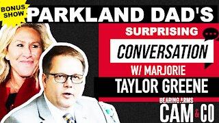 Parkland Dad's Surprising Conversation W/ Marjorie Taylor Greene