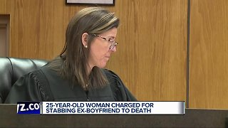 25-year-old woman charged with stabbing ex-boyfriend to death