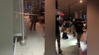 Raw Video: Park Blvd. arrest dual screen