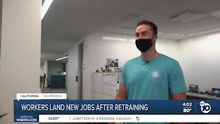 Workers land new jobs after retraining