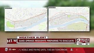 Sand Springs residents preparing to evacuate if needed