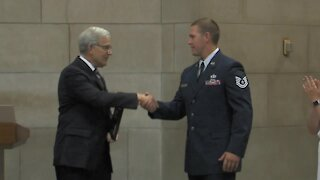 Nebraska National Guard member honored for service during 2020 election