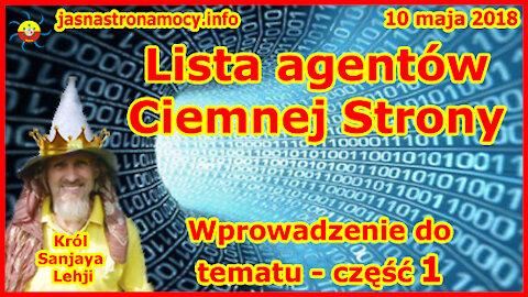 Lista agentów Ciemnej Strony - wprowadzenie do tematu - część 1