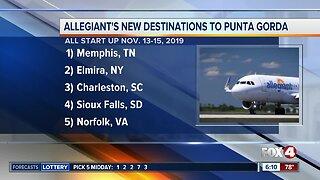 Five new flights announced in Punta Gorda