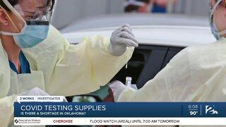 COVID-19 testing capacity amid nationwide supply shortage