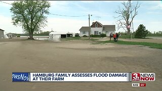 Family airboats to home to assess flood damage