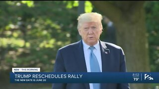 President Donald Trump reschedules Tulsa rally from Juneteenth to June 20