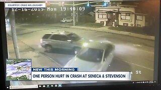 Crews respond to scary car crash in South Buffalo