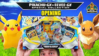 Pikachu GX & Eevee GX Special Collection | Pokemon Cards Opening