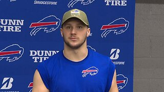 Bills QB Josh Allen discusses facing the Ravens in a big matchup on Sunday