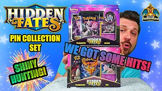 Hidden Fates Pin Collection Set #3 | Shiny Hunting | Pokemon Cards Opening