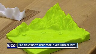 3-D printing lab helps people with visual impairments