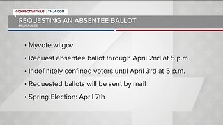 The deadline to request an absentee ballot for next week's election is this Thursday