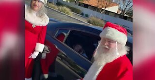 Santa has drive-thru 'breakfast' with special needs kids