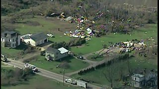Air Tracker 5 provides aerial view of tornado damage
